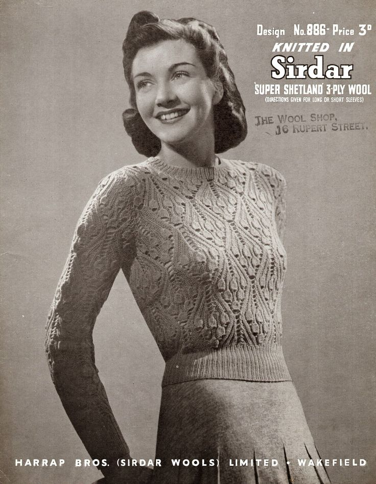 vintage knitting patterns 1940u0027s style for you: bluebells in spring  jumper - nmahree