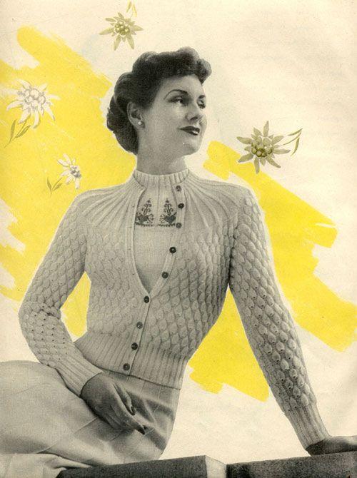 vintage knitting patterns the vintage pattern files: knitting - summer twin set xqazgtc