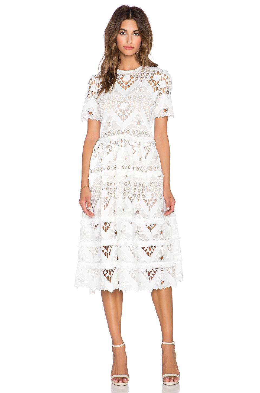 white crochet dress alexis benati crochet midi dress in white crochet xslucff
