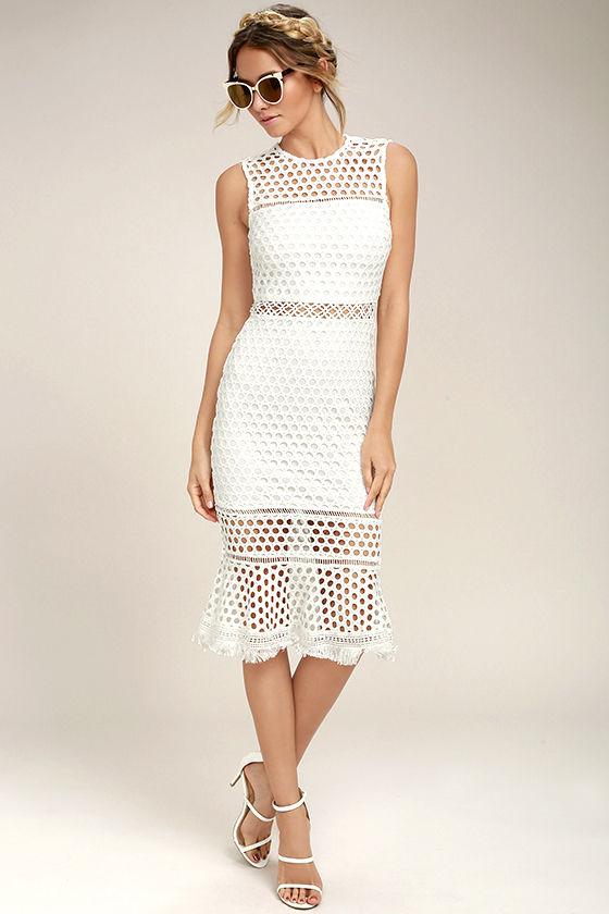 white crochet dress dawn of love white crochet lace midi dress 1 gdmixuq