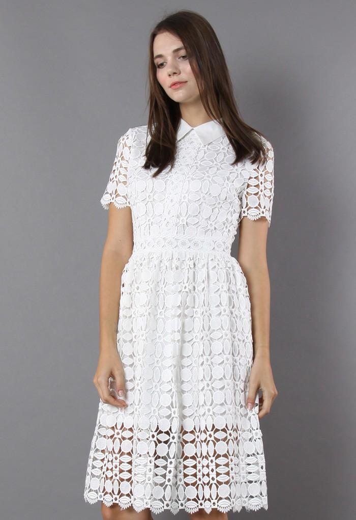 Wear White Crochet Dress the On V Day