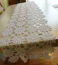 white crochet table runner u2026 ryqyeqs