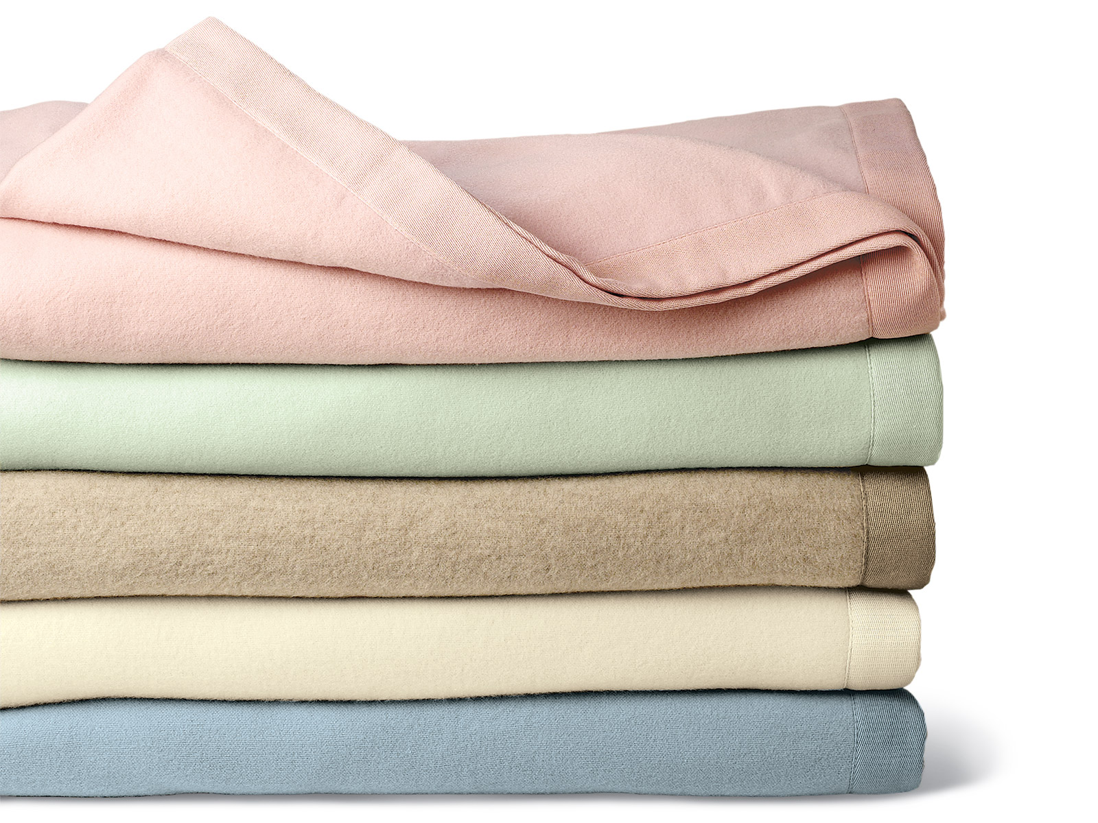 windchime cashmere blanket: pink, green, taupe, winter white. blue puojrdl