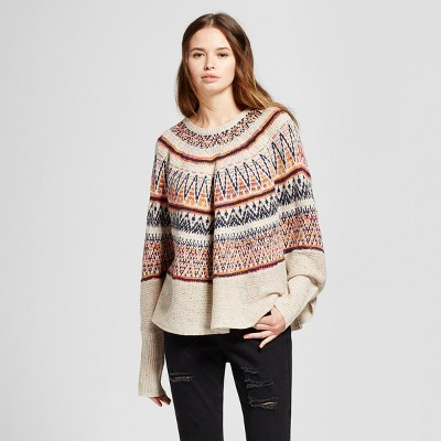 womenu0027s printed poncho sweater ... eungeky