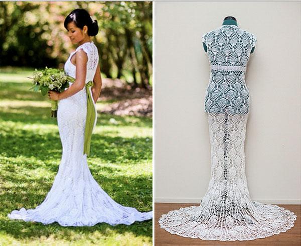 wonderful crochet wedding dress 6 amazing crochet wedding dresses beautiful  crochet stuff udnahwf