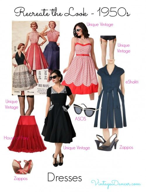 1950s Inspired Fashion: Recreate the Look   1950s Style Clothing