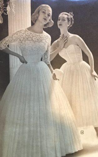 1950s Vintage Wedding Dresses & Shoes History