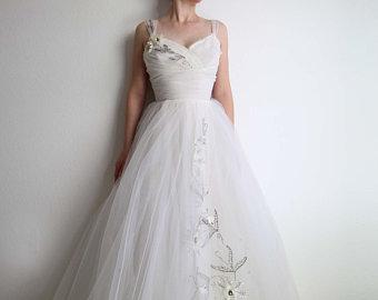 1950s wedding dress   Etsy