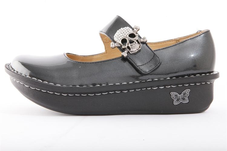 Paloma Charcoal Patent - Alegria Shoes
