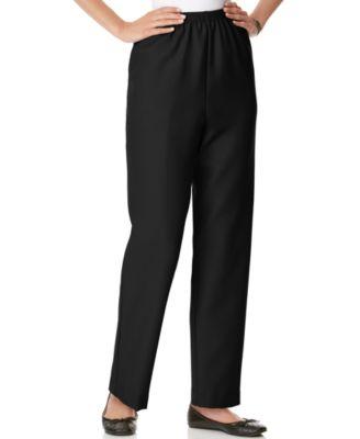 Alfred Dunner Petite Classics Pull-On Straight-Leg Pants - Pants
