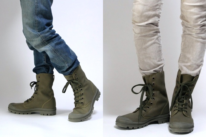 OUTLET for GREEN: Czech Army canvas combat boots and mountain long