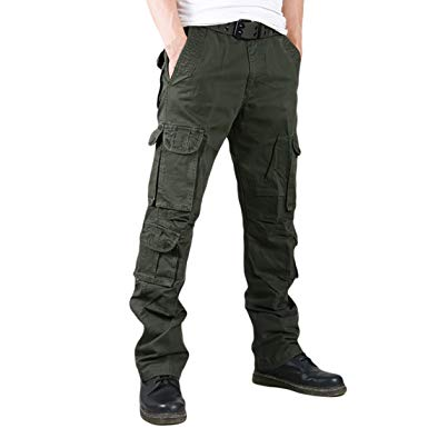 Mens Wild Cargo Pant Cotton Cargo Trousers Army Military Outdoor