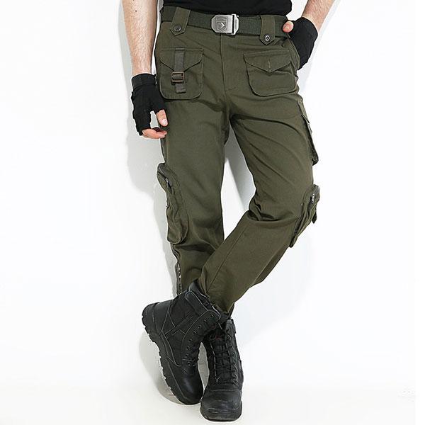 Stripe Element Army Style Multi-Pocket Cargo Pant u2013 Kingerous