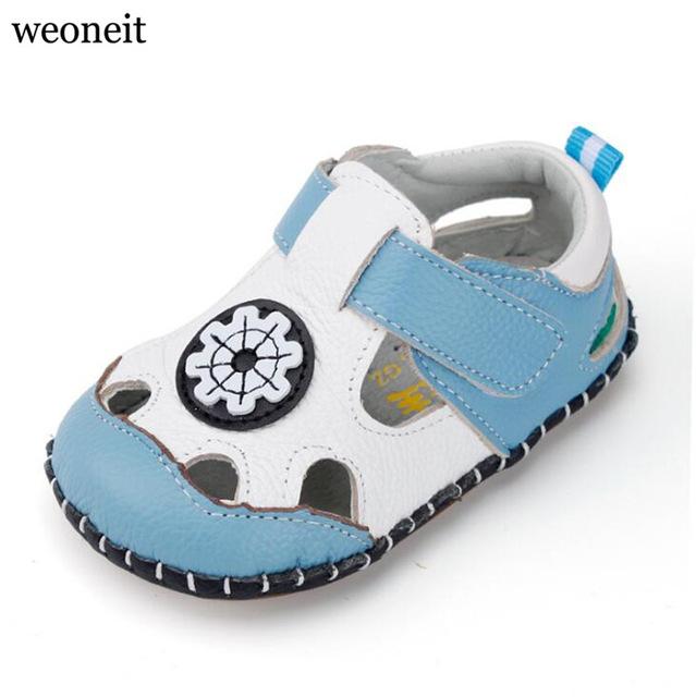 Weoneit New 2019 Summer Baby Boys Shoes, Newborn, Baby Boy Soft Sole