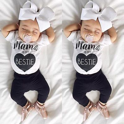 Newborn Infant Baby Boys Girls Bodysuit Romper Jumpsuit Outfits