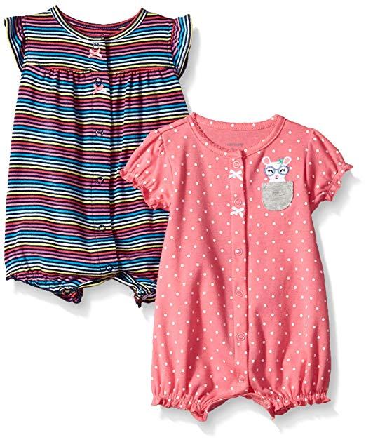 Amazon.com: Carter's Baby Girls' 2-Pack Romper: Clothing