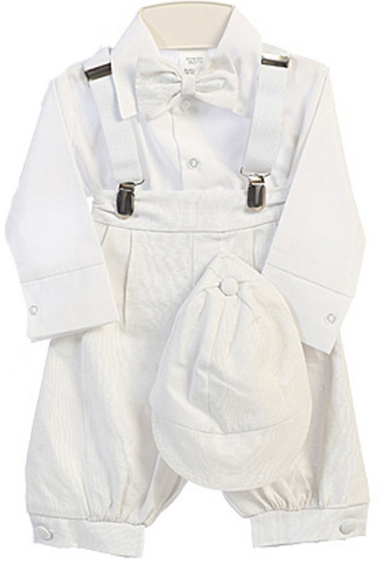 Boys White Knicker Suit