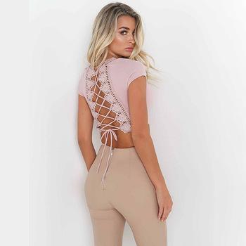 Ladies Sexy Backless Tops Blouse Designs Women - Buy Ladies