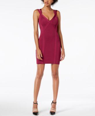 GUESS Mirage Sleeveless Bandage Dress - Dresses - Juniors - Macy's