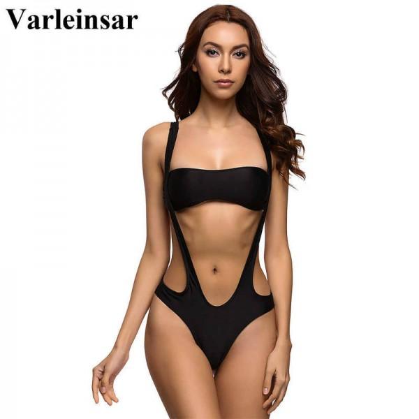 Swimwear Women High Cut One Piece Swimsuit Bathing Suit Top Bikini