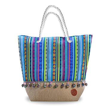 Amazon.com: Beach Bags and Totes - Premium Canvas Travel Beach Tote