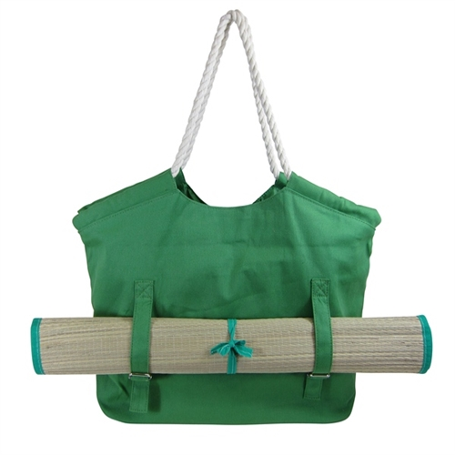 Wholesale Canvas Beach Bags and Totes: Canvas Tote with Straw Mat