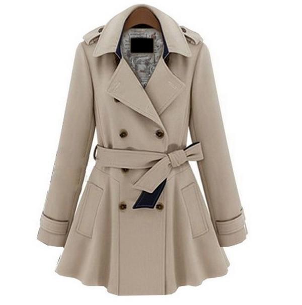 Plus Coats Women Jackets Slim Blue Beige Fashion Coat S M L Xl on Luulla