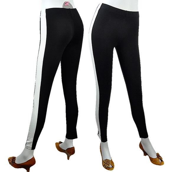 Moda Italia Rakuten branch: SALE POIS side-striped Leggings Black