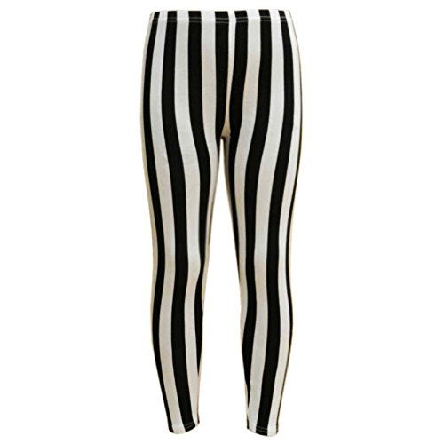 Amazon.com: a2z4kids Girls Legging Kids Black & White Vertical