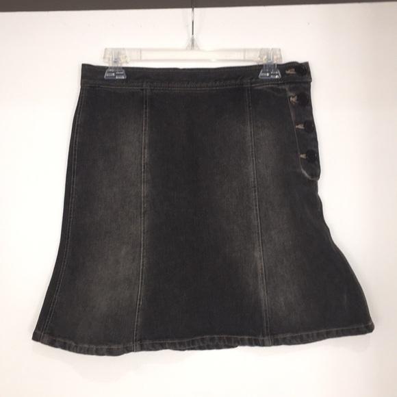 Marc Jacobs Skirts   Black Denim Skirt Size 2   Poshmark