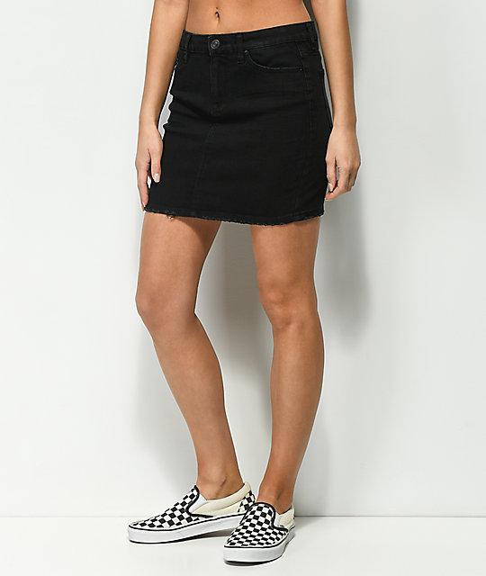 Almost Famous Black Denim Skirt   Zumiez