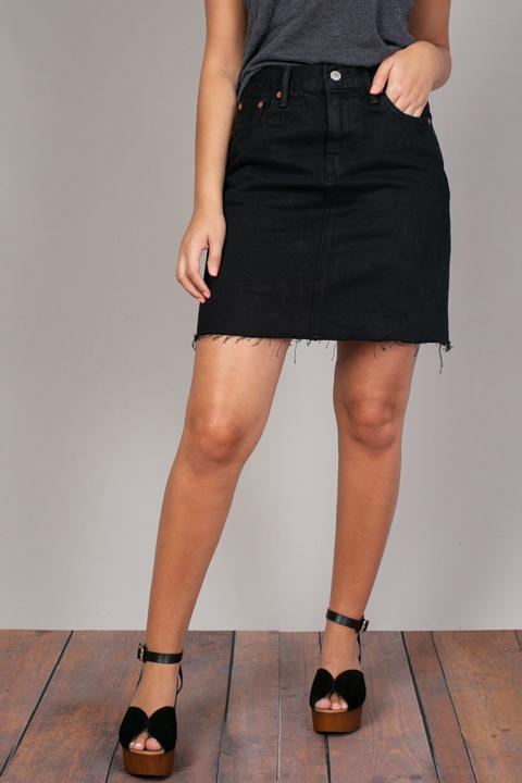 Black Denim Skirt   Skirt   Levis