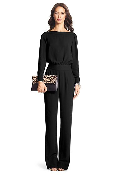 Cynthia Long Sleeve Jumpsuit In Black | Fashion inspirations in 2019