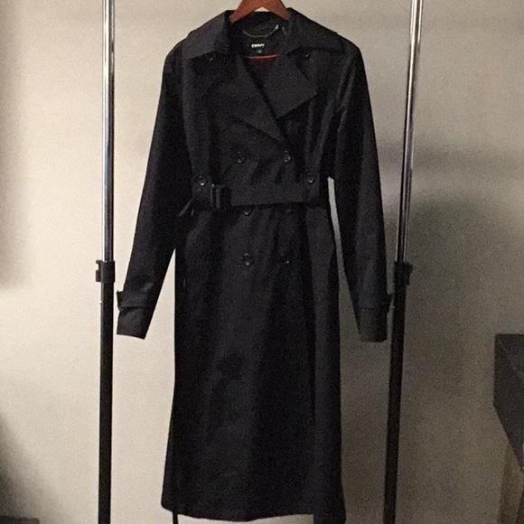 DKNY Jackets & Coats | Black Trench Coat | Poshmark