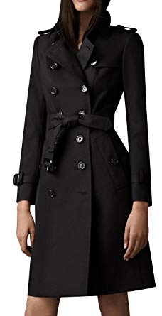 Black trench coat for winters