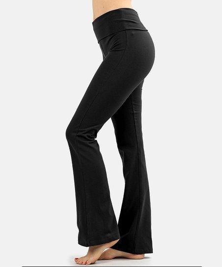 SBS Basics Black Yoga Pants - Women | Zulily