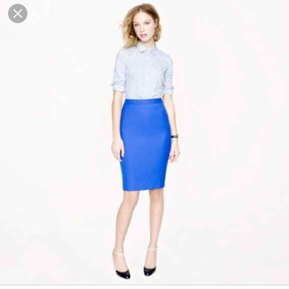 J. Crew Skirts | Jcrew Number 2 Pencil Skirt Cobalt | Poshmark