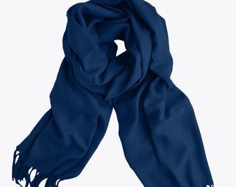 Navy blue scarf | Etsy