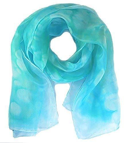 Silk scarf women, blue scarves, Turquoise plus more colours