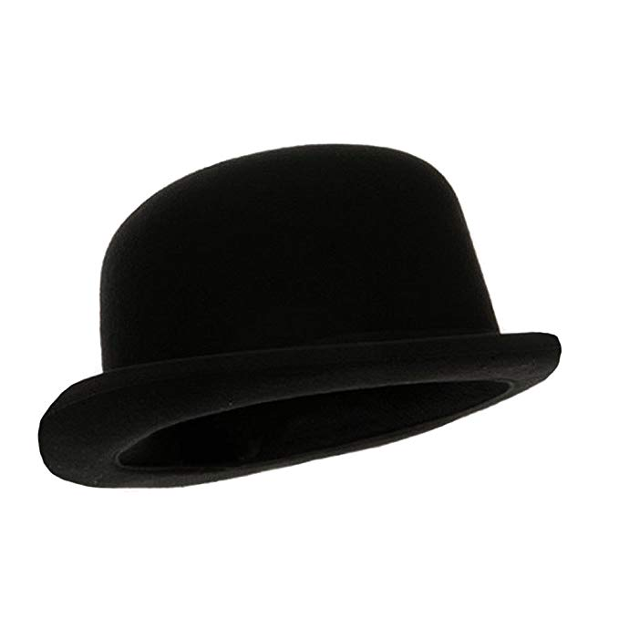 Black Blended Wool Derby Hat at Amazon Men's Clothing store: Bowler Hat