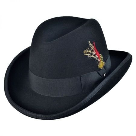 black derby at Village Hat Shop