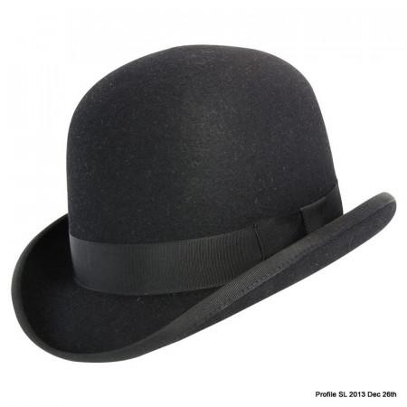 Akubra Bowler Hat - Black - Made To Order