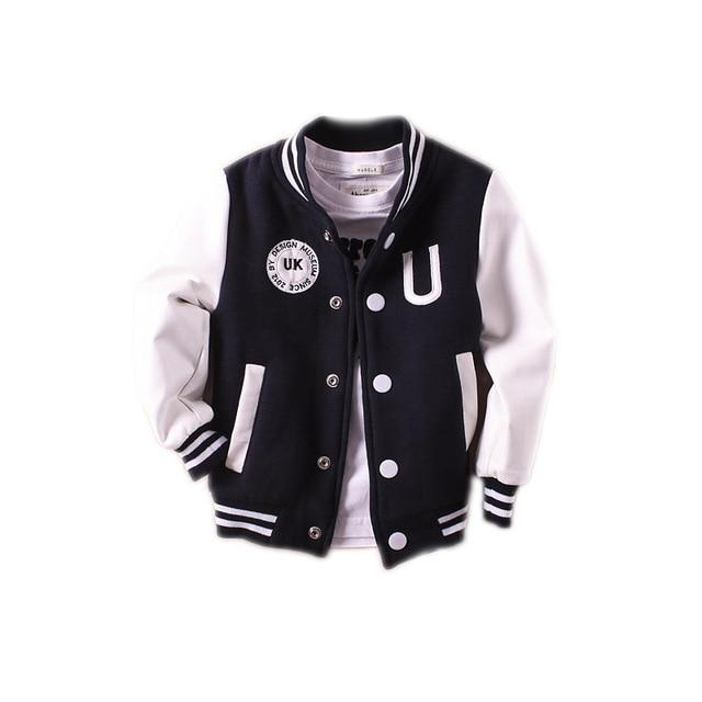 New Boys outerwear 2018 baby boy jacket spring autumn long sleeve pu