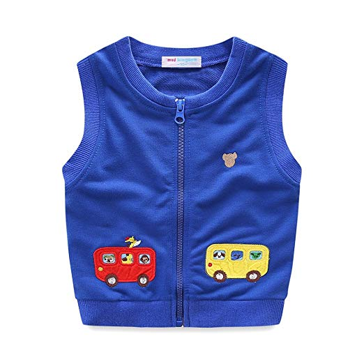 Amazon.com: UWESPRING Little Boys Vest Cartoon Car Zipper: Clothing