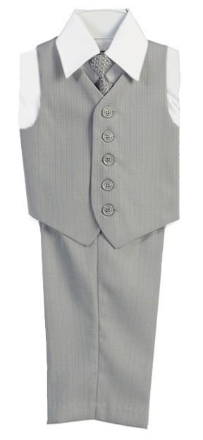 Boys Vest Set 4-Piece Vest Set with Pants Shirt and Tie All Colors