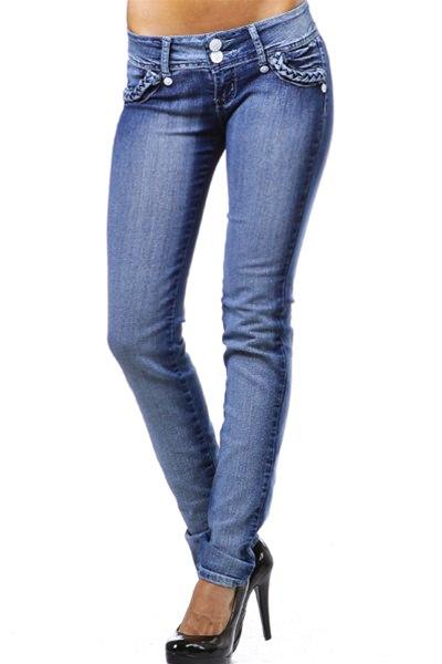 Booty Lifter Braided Brazilian cut Low Rise Skinny Jeans Skinny Jeans