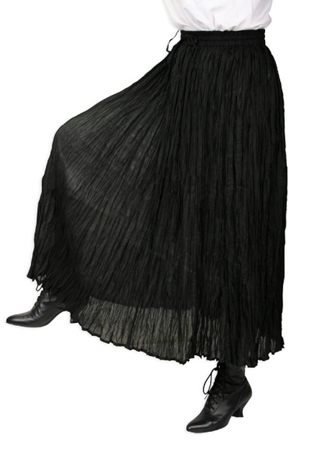 Hestia Broomstick Skirt - Black
