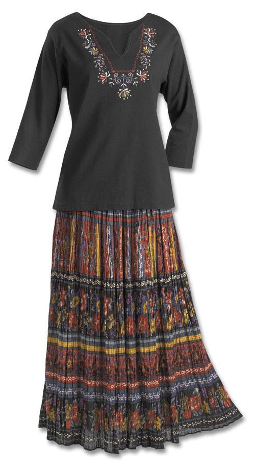 Crinkle Broomstick Skirt - Dresses & Skirts - Fashion