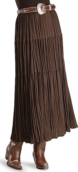 Cattlelac Broomstick Skirt - Brown I love this with the belt and