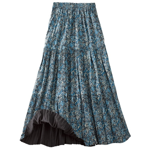Shop Women's Reversible Broomstick Skirt - Blue Lagoon Paisley Print